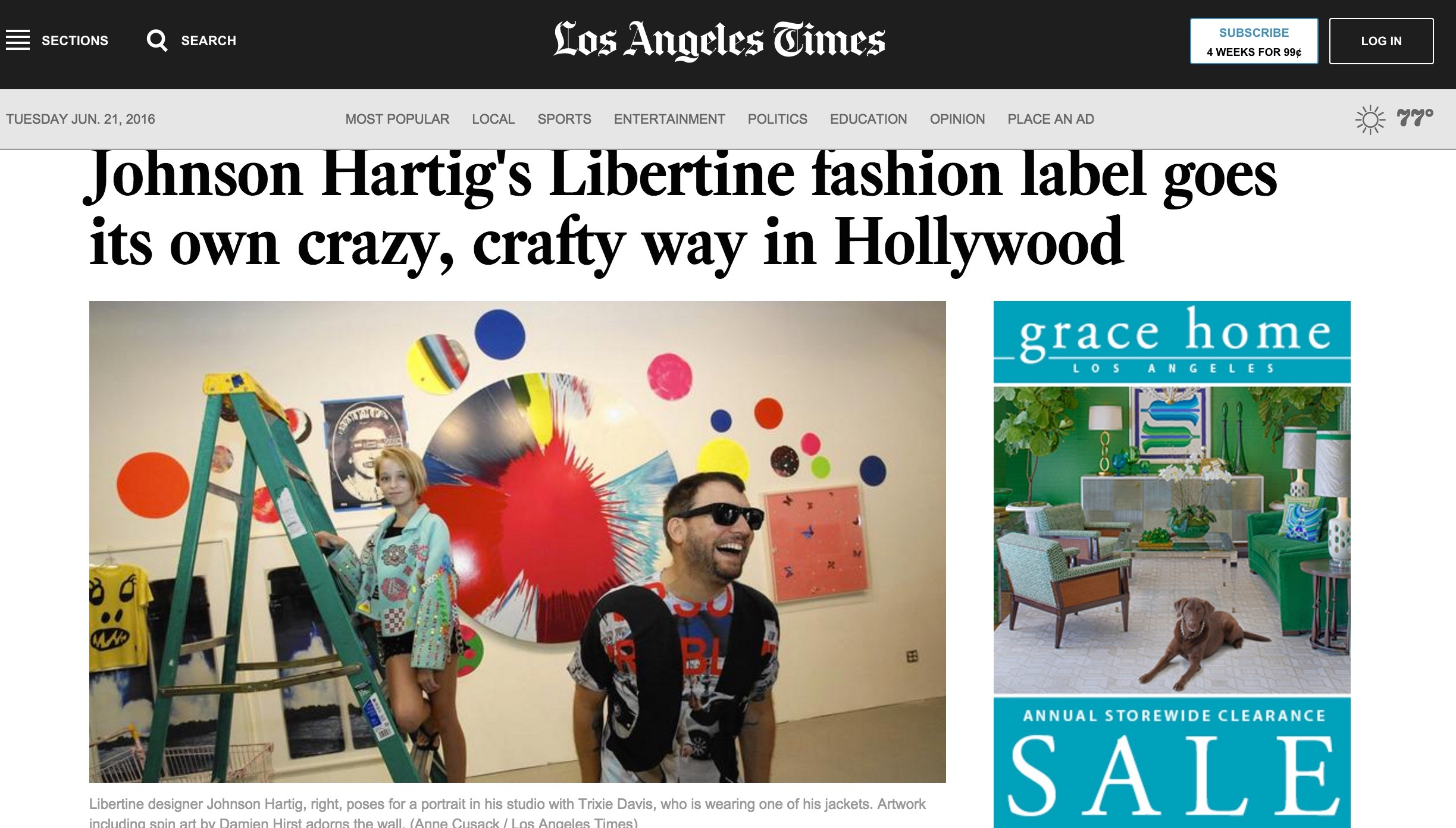 L.A Times : Libertine
