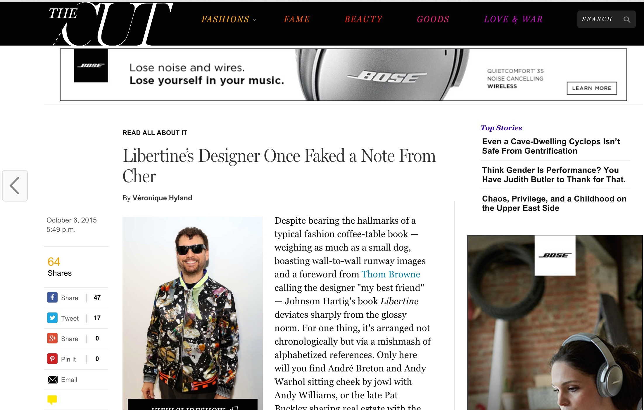 NY Mag - The Cut : Libertine
