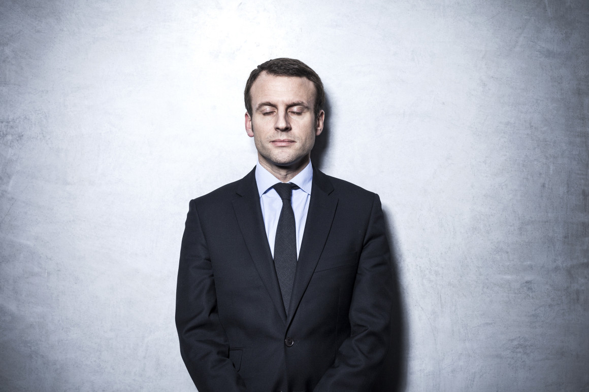 Emmanuel Macron is the French Minister of Economy, Industry and Digital Affairs in the Second Valls Government. He was appointed on 26 August 2014. He was previously a senior official, politician and former investment banker.  Photographed in his office in Bercy, a few days after having shaved his headline-making beard. Photo (c) Ed Alcock / M.Y.O.P. 18/1/2016