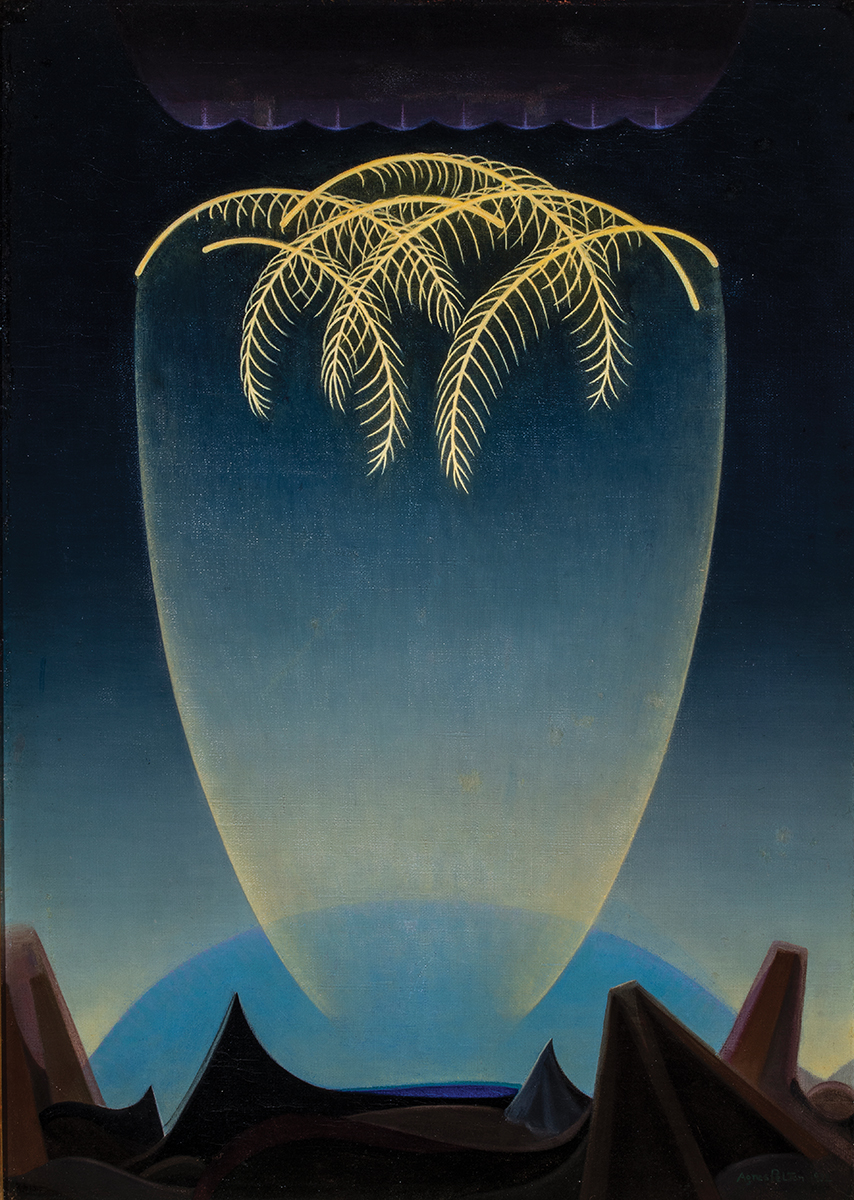 Agnes Pelton; Messengers; 1932; oil on canvas; Collection of Phoenix Art Museum, Gift of The Melody S. Robidoux Foundation